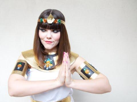 No-Sew Cleopatra Costume, Halloween How-to