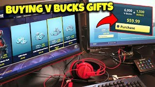 I went on his account and bought V BUCKS as a GIFT! (Fortnite Battle Royale)