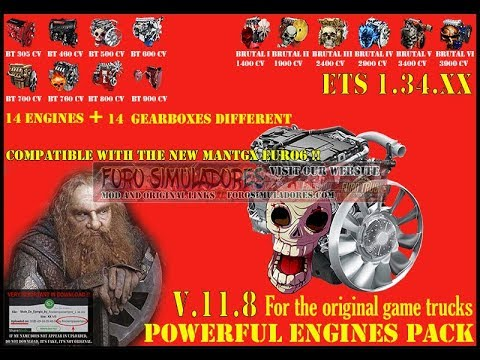 Pack Powerful engines + gearboxes v11.8 for 1.34.x