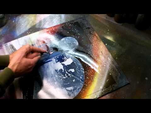 Spray - Brandon McConnell creates a sweet custom painting. Get your very own Spacepainting at here http://www.spacepaintings.com/page/page/1393615.htm . Thanks for w...