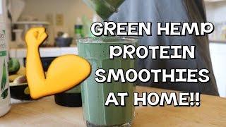 GREEN HEMP PROTEIN SMOOTHIES AT HOME! | avocado, banana, hemp milk breakfast | CoralReefer by Coral Reefer