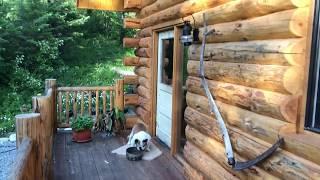 24x30 Log Cabin Walk Through with Basement