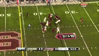 Coby Fleener vs Notre Dame 2011