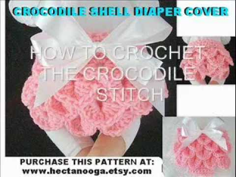 HOW TO CROCHET THE  CROCODILE STITCH