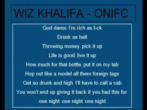 Wiz Khalifa - O.N.I.F.C Lyrics