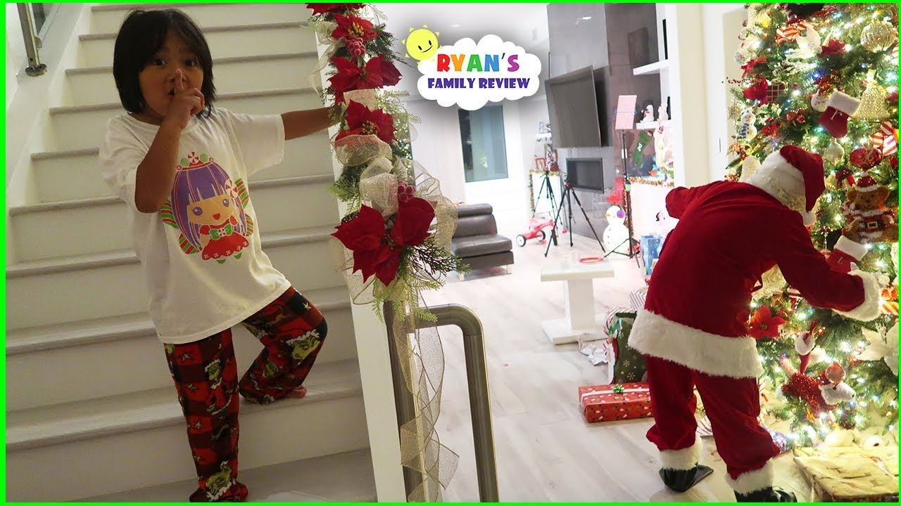 Ryan Caught Santa Claus on Christmas!! - YouTube