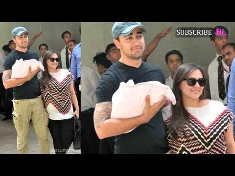 Imran Khan and wife Avantika take home their bundl