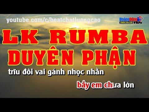 Karaoke Nhạc Sống 2016 - Duyên Phận - LK Rumba