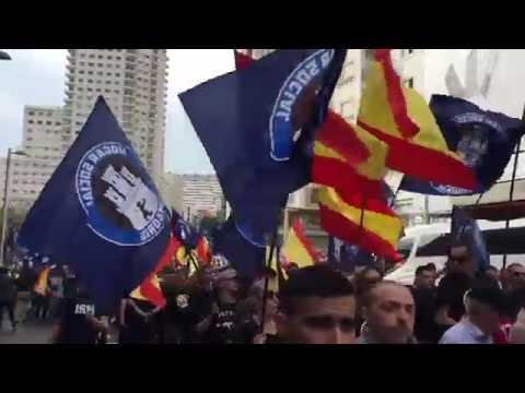 El lapsus de los nazis del Hogar Social Madrid durante una manifestación