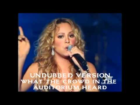 Mariah Carey – You & I (Live) rare secret undubbed vocals