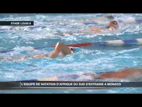 L'quipe de natation sud-africaine se prpare  Monaco