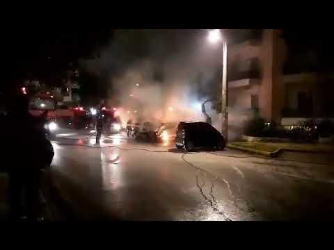 Video - Νέο μπαράζ εμπρησμών σε ΙΧ-Σε Μαρούσι, Αθήνα, Αγ. Παρασκευή