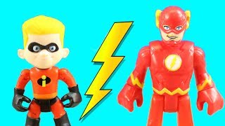 Video Incredibles 2 Dash & Imaginext Flash Speedsters Race To The Rescue + Mr. Incredible Lifts Building MP3, 3GP, MP4, WEBM, AVI, FLV September 2018