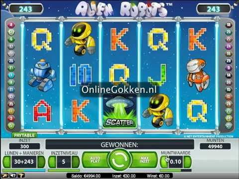 Alien Robots Video Slot op Onlinegokken.nl
