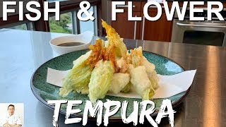 Fish and Flower Tempura   Clean, Slice, Tempura by Diaries of a Master Sushi Chef
