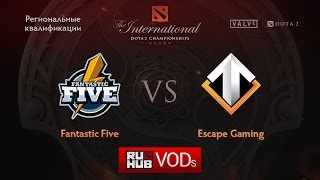 Fantastic Five vs Escape, game 1