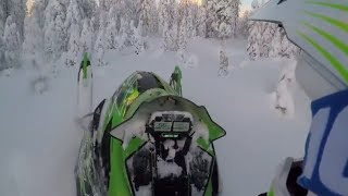 1. Arctic Cat M6000 in the backcountry