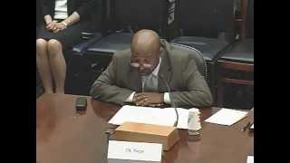 Dr. Berhanu Nega Speaking Before The Subcommittee On Africa