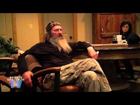 Willie & Phil Robertson talk about fake bleeps and praying in Jesus' name