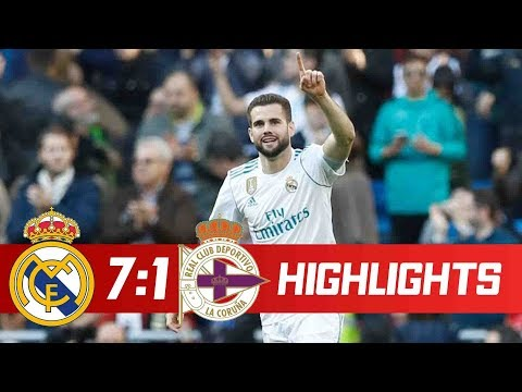 Real Madrid vs Deportivo 7-1 Goals & Highlights - LaLiga 21/01/2018 HD