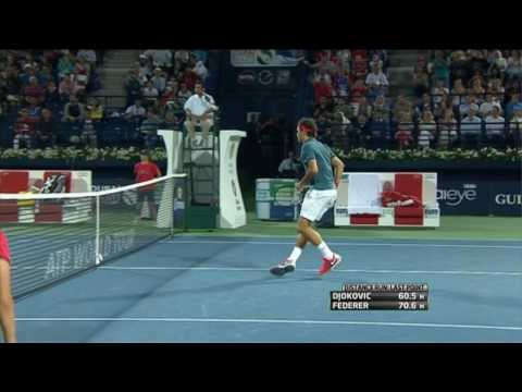 gran punto di federer contro djokovic - semifinale dubai 2014