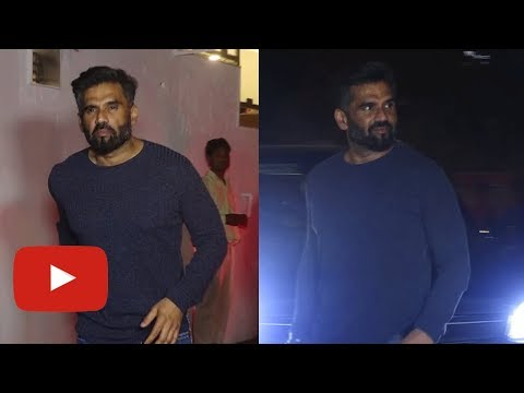 Suniel Shetty SPOTTED At B Lounge Launch