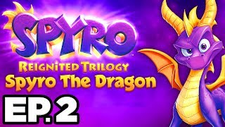 Spyro The Dragon Ep.2 - BATTLING THE FIRST BOSS TOASTY!!! (Reignited Trilogy Gameplay / Let's Play)