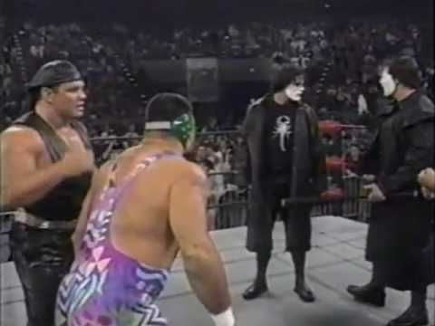 The Steiners confront Sting!