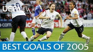Karen Carney and Renate Lingor feature in our collection of some of the best goals from the 2005 UEFA Women's EURO.