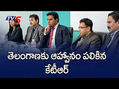 IT Minister KTR US Tour Highlights