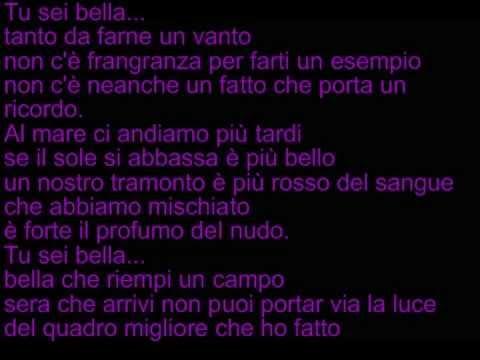 , title : 'Biagio Antonacci -Tu sei bella (testo)'