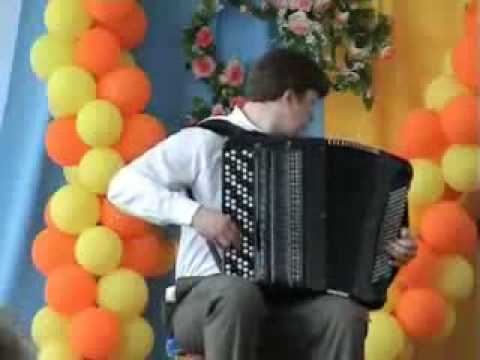 Kid absolutely shreds on his Accordion.