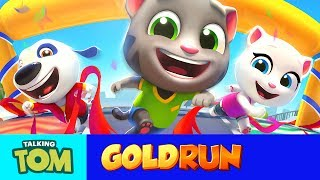 Can you beat Talking Tom in a race? We'll show you how in Talking Tom Gold Run! Then you can beat two opponents to win the Racing Contest and get incredible rewards. You'll soon be climbing up the leaderboards – the view from the top is pretty sweet! Download now and play: http://outfit7.com/tomgoldrunSubscribe to my YouTube channel: https://www.youtube.com/user/TalkingTomCat?sub_confirmation=1 I'm Talking Tom, and I'm the original talking tomcat. It's great you've stopped by. If there's fun to be had, this cool cat and my friends are probably having all of it! You should definitely check out my shorts, trailers, and gameplay videos featuring me and my friends. Also, keep up to date with my crazy thoughts and ideas via my video blog Talking Tom Brainfarts. You could try looking, but you won't find a funnier guy anywhere else! Stick around!  Don't forget to explore the hilarious world of My Talking Tom. Adopt me as your very own virtual pet, dress me up the latest, greatest, and funniest outfits ever, play some really cool mini games and join in the fun. http://MyTalkingTom.com New videos get uploaded all the time. But while you wait, check out my friends' channels too! Talking Angela and Talking Ginger have some great stuff for you to watch, and you can find even more videos over on the Talking Tom and Friends channel. Stay awesome guys,Tom :) For more fun…▶︎ enjoy our Animated Series on Talking Tom and Friends channel: https://www.youtube.com/TalkingFriends ▶︎ here's the very popular Talking Angela's channel: https://www.youtube.com/TalkingTom ▶︎ don't miss out on Talking Ginger's YouTube channel: https://www.youtube.com/TalkingGinger   Talking Tom is also known as: Sprechender Kater Tom, Tom qui parle,  Tom Falante, Tom el gato parlante, Konuşan Tom, توم المتكلم