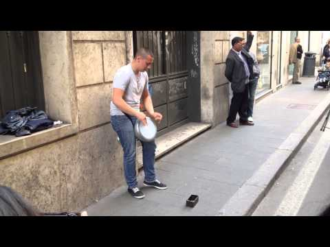 darbuka - This street performer play like if has 4 hands. Doumbek for americans: http://www.amazon.com/gp/product/B000GEE7BI/ref=as_li_ss_tl?ie=UTF8&camp=1789&creative...