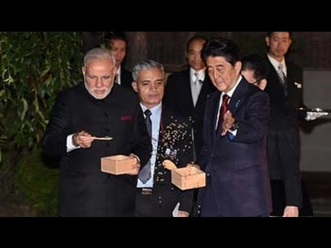 Japan - Prime Minister Narendra Modi and his Japanese Counterpart Shinzo Abe took some time out from their hectic schedules to feed fish in a pond near a state guest house in Kyoto on Saturday. Watch...