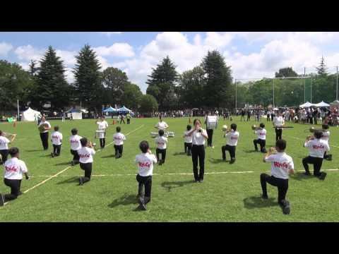 八尾市立竜華中学校吹奏楽部マーチングドリル「八尾河内音頭祭り2014」