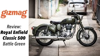 6. Royal Enfield Classic 500 - Battle green review