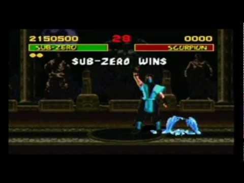 Sub-Zero -Fatalities Clássicos ( Mortal Kombat 1 ao Mortal Kombat Deception )