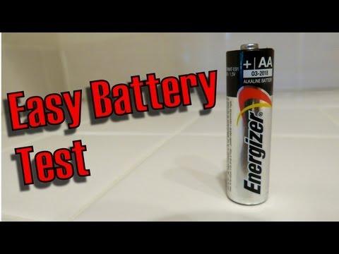不須用電表,只要1秒就能知道電池還有沒有電的簡單方法!