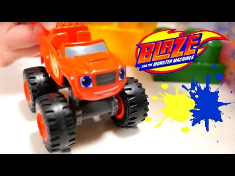 The BLAZE Monster Machines toys CAR RACE! Crusher Toy cars videos for kids & Orbeez toys kids games