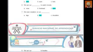Nivel: 1Learning activity 4   Evidence: Recognizing body parts (solución)