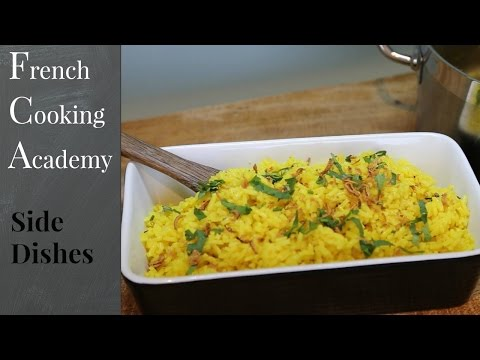 Golden Rice Recipe - Coriander And Fried Onions - How To Cook Pilau - How To Video