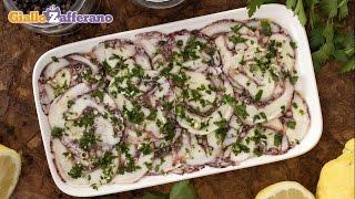 Octopus carpaccio - Italian recipe