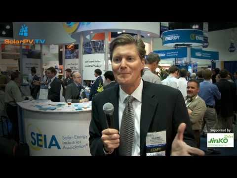 SolarPV.TV reportage from Solar Power International 2010/ Industry leaders … and Pamela Anderson