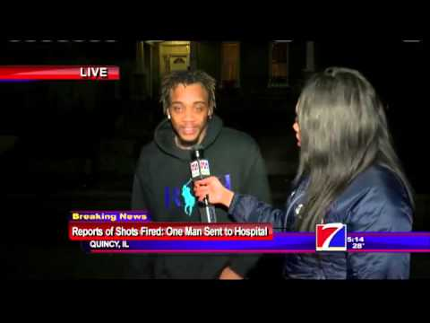 TV Anchor Interviews Gunshot Victim Live