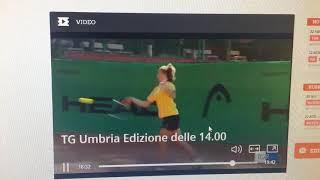 Servizio Rai Tre Umbria Matilde Paoletti - Junior Tennis Perugia