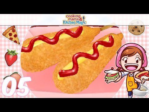 [Let's Play] Cooking Mama 4 Kitchen Magic - EP05: Corn Dog ᕕ( ᐛ )ᕗ