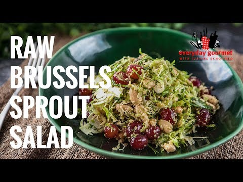 Raw Brussel Sprout Salad | Everyday Gourmet S7 E22