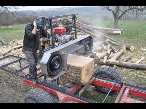 Blockbandsäge Eigenbau Homemade Sawmill