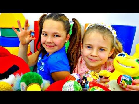 Киндеры из Энгри Бердз. Игры для детей. (видео)